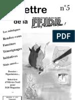La Lettre de la FFJdR n.5 (nouvelle formule) - avril 2001