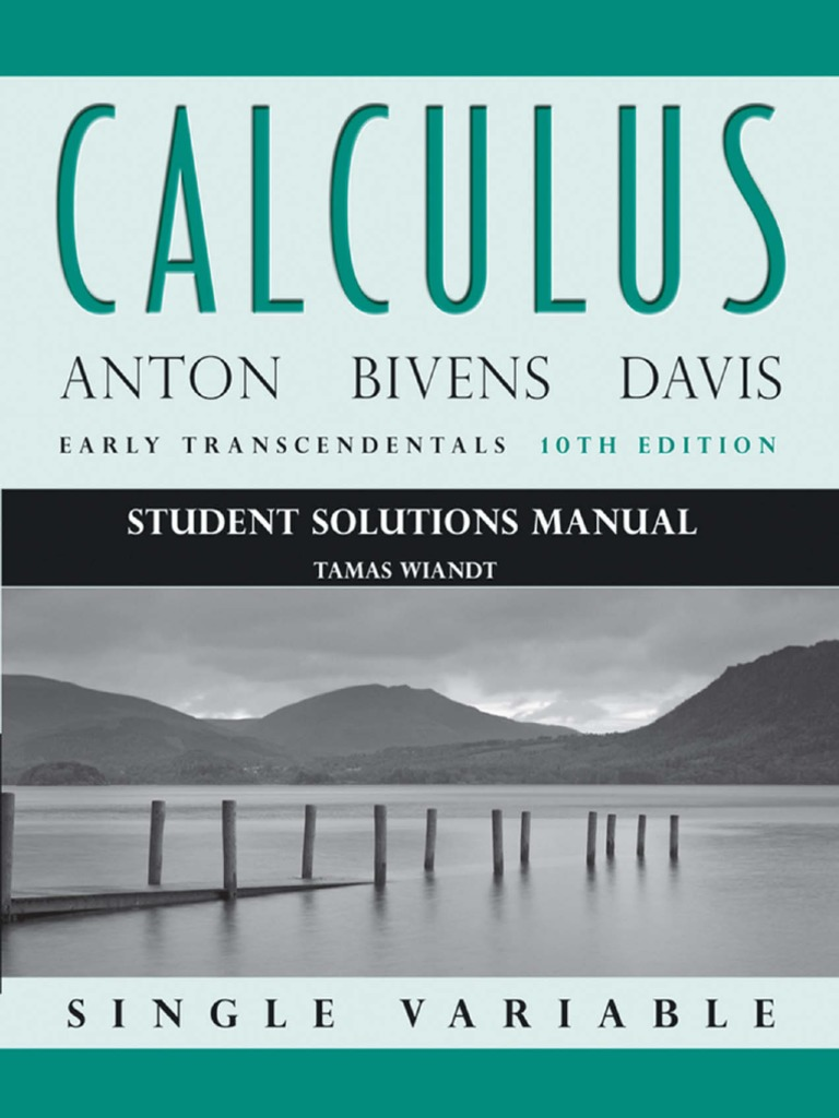 Calculus, Student Solutions Manual - Anton, Bivens & Davis | Sine |  Trigonometric Functions