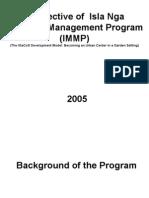 Perspective of Isla Nga Maanyag Management Program