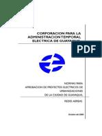 Normas Distribcion Aerea Electrica Guayaquil