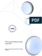 FTAs in Northeast Asia and TPP