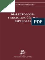 Dialectología y Sociolinguistica-francisco Gimenez Menendez