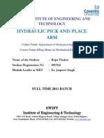 Synopsis Hydraulic Arm