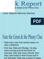Nate the Great & the Phony Clue Book Report