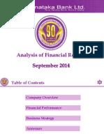 Karnataka Bank Analysis Sep 2014