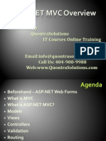 ASP.NET MVC Overview Presented  by QuontraSolutions