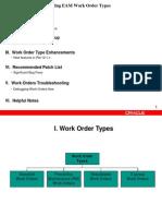 Understanding of Various EAM Work Order Types