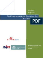 FINAL QAA Pilot Implementation Report V1