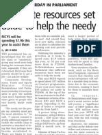 New lifelines for needy Singaporeans, 12 Feb 2009, Business Times