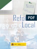 Nota Explicativa de La Reforma Local