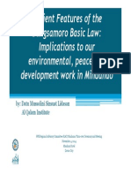 Implications of BBL Provisions on the Environment, Peace & Devt Work