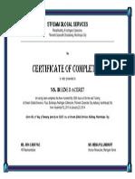 Certificate Stream