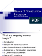Basics of Construction Insurance
