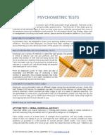 Psychometric Tests 2012