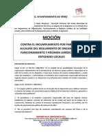 Moción de IU Contra El Incumplimento Del RCL