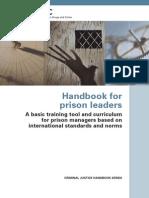 UNODC Handbook for Prison Leaders