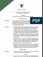 Peraturan Menteri Keuangan tentang Standar Biaya Umum Tahun Anggaran 2010