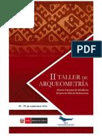 Programa del II Taller Arqueometría
