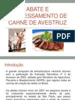 Abate e Processamente de Carne de Avestruz