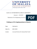 Challenges of EIA Implementation in Malaysia