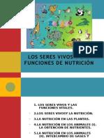 UD4 LOS SERES VIVOS Y LA FUNCIÓN DE NUTRICIÓN