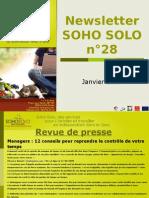 Newsletter Soho Solo n28 Janvier-2010