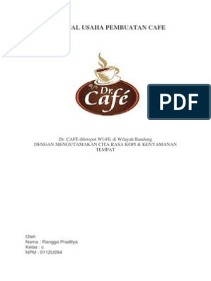 Contoh Proposal Coffee Shop Gambaran