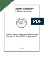 Guía para la aplicación del Sistema Específico de Valoración de Riesgo (SEVRI) en los procesos