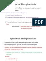 Symmetrical Three Phase Faults