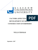 FACTORS AFFECTING THE DEVELOPMENT OF MICROCONSTRUCTION ENTERPRISES