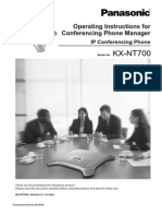 Panasonic - Ip Conference Phone - Model Kx-nt700_cpm-En