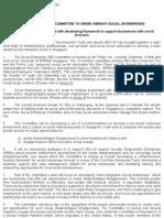 Social enterprise committee to grow vibrant social enterprises, Press Release, 08 Mar 2007