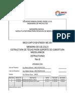 CALCULO TECHO VOLADIZO