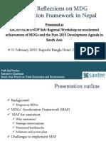Dhaka Mdg Presentation-Posh Raj Pandey