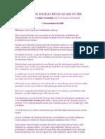 OS DIAS DE SOLIDÃO ESTÃO QUASE NO FIM - Saint Germain - Nov 2009=