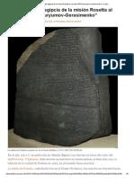 """La Terminología Egipcia de La Misión Rosetta Al Cometa """"67P_Churyumov-Gerasimenko"""" _ Conec"""