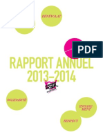 Rapport 2013/2014 des Restos du Coeur