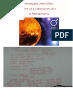 Projeções ( Previsões ) Para Os 12 Signos Em 2015 - O Ano de Marte