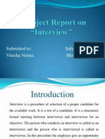 managerial communication, project on interview