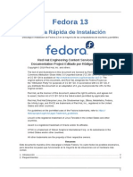 Fedora 13 Installation Quick Start Guide Es ES
