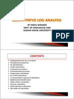 Quantitatif Log Analysis Simple