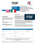 US Italian Business Matchmaking Event - Chicagoland Camber of Commerce