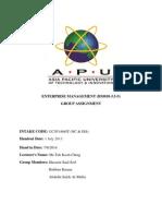 Enterprise Management Assignment (ENTM)