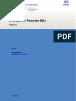 Checklist for Teradata SQLs