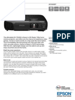 Epson EH-TW490 3LCD HD Ready Gaming / Home Theatre Projector