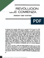 Che Una Revolucion Que Comienza