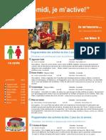 Dépliant Publicitaire Activités Mercredis PM Bloc 2 1e Cycle 2014 2015
