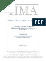 Autism study report