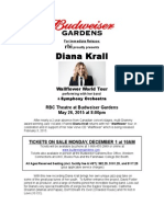 Press Release & Bio- Diana Krall May 26, 2015 - RBC Theatre at Budweiser Gardens