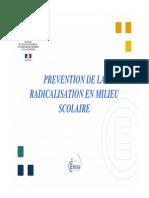 Le document du rectorat de Poitiers sur la radicalisation